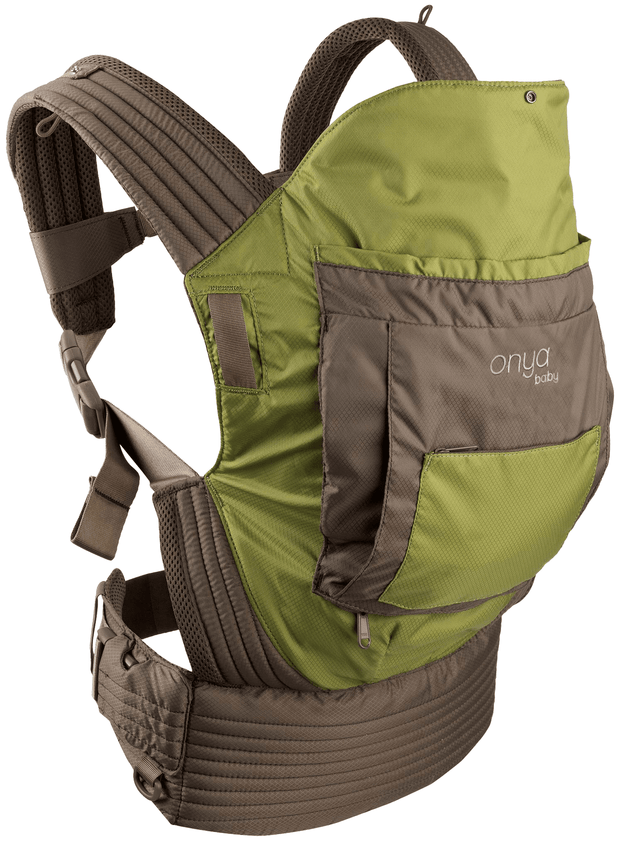 Onya Baby Outback Baby Carrier in Olive Green & Chocolate Chip - Urban Stroller