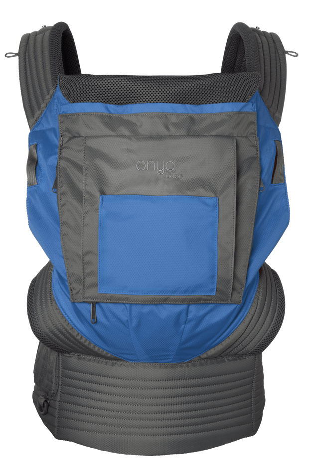 Onya Baby Outback Baby Carrier in Tahoe Blue & Slate Grey - Urban Stroller