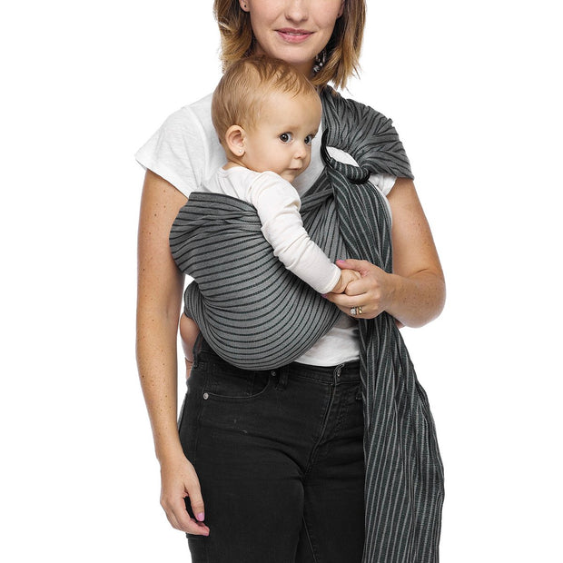 Moby Ring Sling Baby Carrier in Jet Ribbons - Urban Stroller