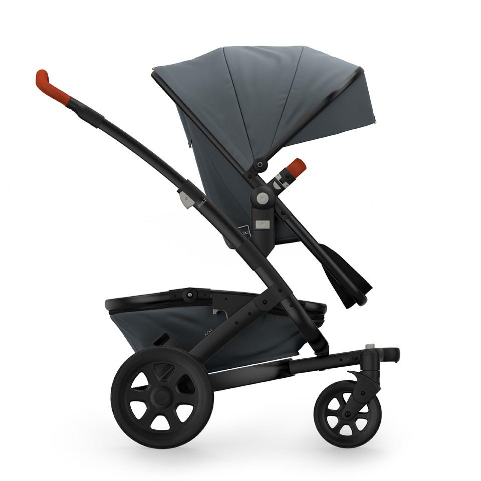 Joolz Geo 2 Tailor Mono Stroller in Grey with Black Chassis & Black Wheels - Urban Stroller