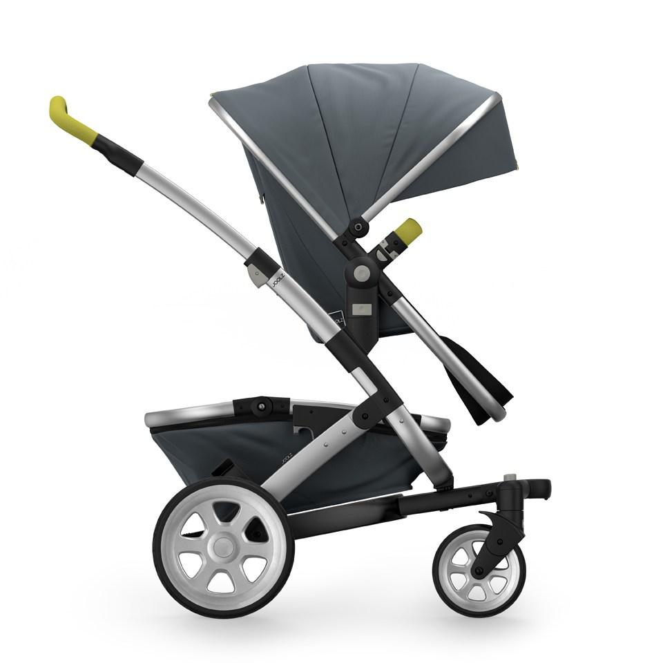 Joolz Geo 2 Tailor Mono Stroller in Grey with Silver Chassis & Silver Wheels - Urban Stroller