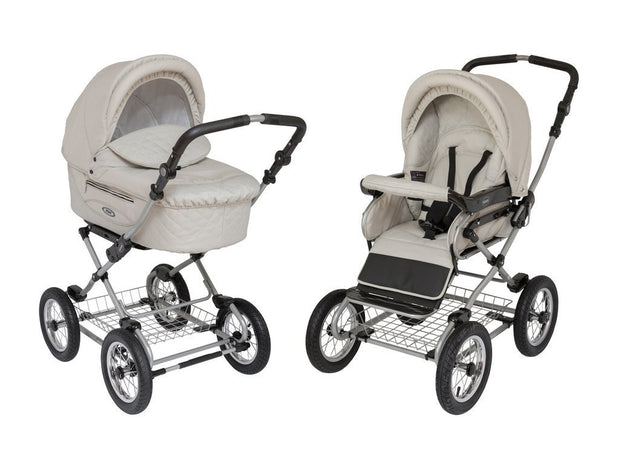 Dasalika Roan Kortina Classic Pram in Natural Tan - Urban Stroller