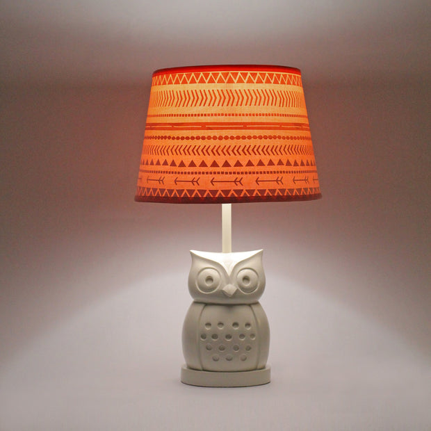 The Peanutshell Owl Coral Tribal Lamp - Urban Stroller