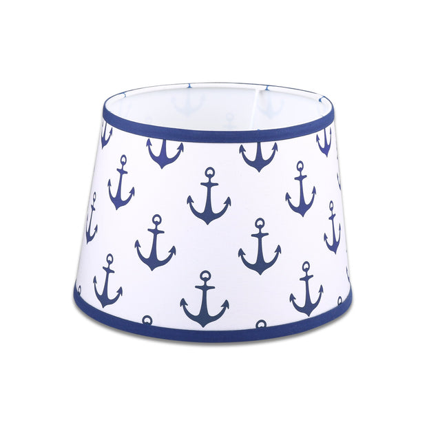 The Peanutshell Navy Anchors Lamp Shade - Urban Stroller
