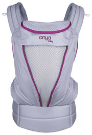 Onya Baby Pure Baby Carrier in Granite & Deep Orchid - Urban Stroller