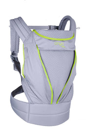 Onya Baby Pure Baby Carrier in Granite & Macaw Green - Urban Stroller