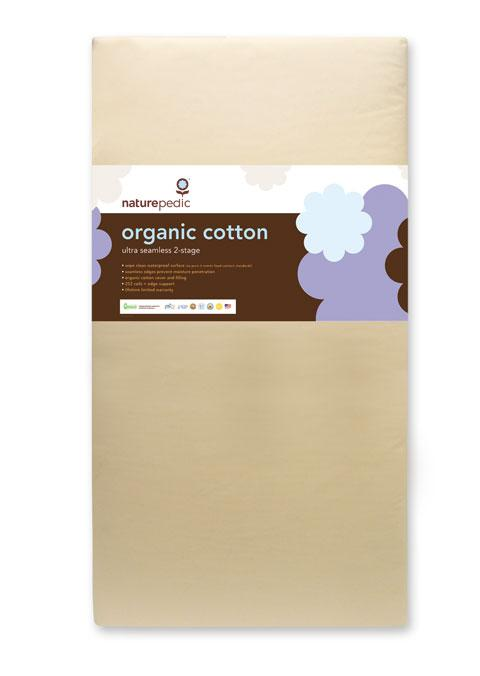 Naturepedic Organic Cotton Classic Ultra 252 Seamless 2-Stage Crib Mattress - Urban Stroller
