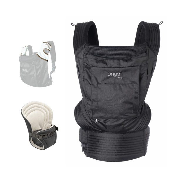 Onya Baby Outback Bundle Baby Carrier in Jet Black - Urban Stroller