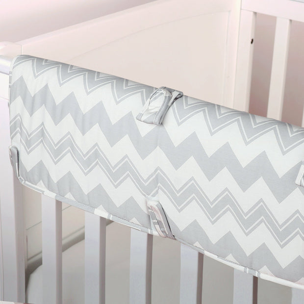 The Peanutshell Grey Chevron Crib Rail Guard - Urban Stroller