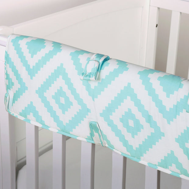 The Peanutshell Teal Tile Crib Rail Guard - Urban Stroller