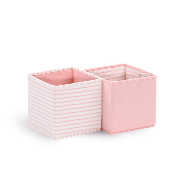 The Peanutshell Set Of 2 Storage Totes - Coral - Urban Stroller