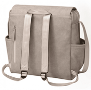 Petunia Pickle Bottom Boxy Backpack in Grey Matte Leatherette - Urban Stroller