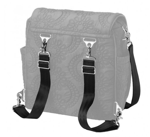 Petunia Pickle Bottom Strap Set in Black/Silver - Urban Stroller