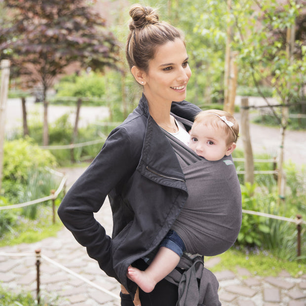 Moby Classic Wrap Baby Carrier in Slate - Urban Stroller