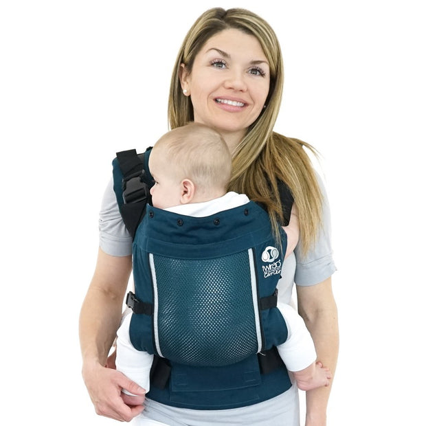 Separates to 2 Single Carriers TwinGo Air Baby Carrier and Breathable Mesh