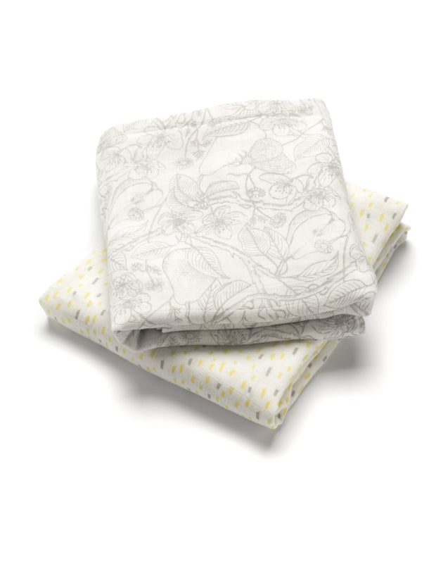 Storksak Swaddle Blankets Mixed Print - 2 Pack