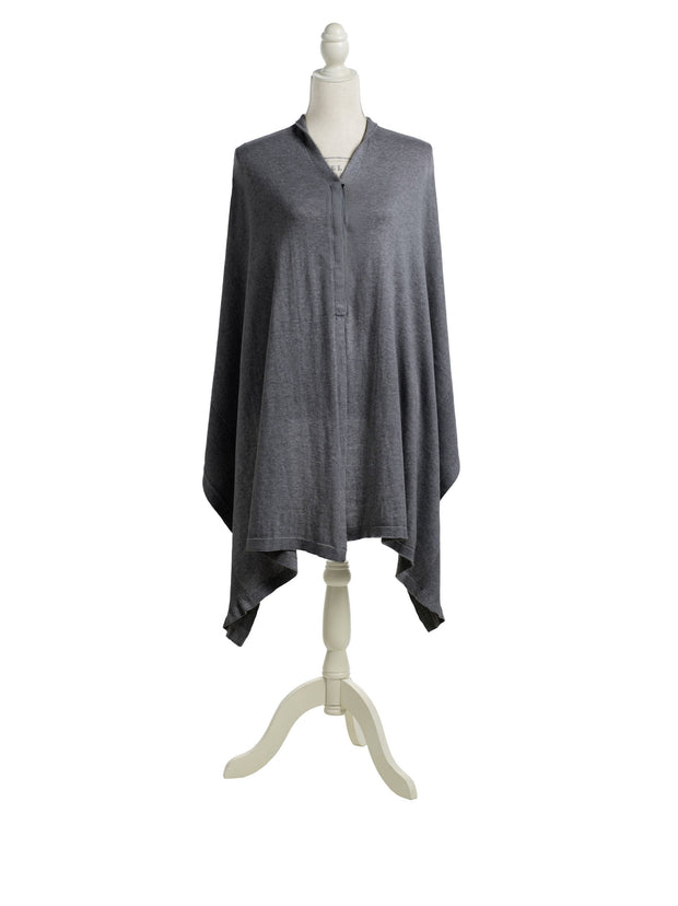 Storksak Mother's Cocoon Organic Nursing Shawl in Charcoal Grey