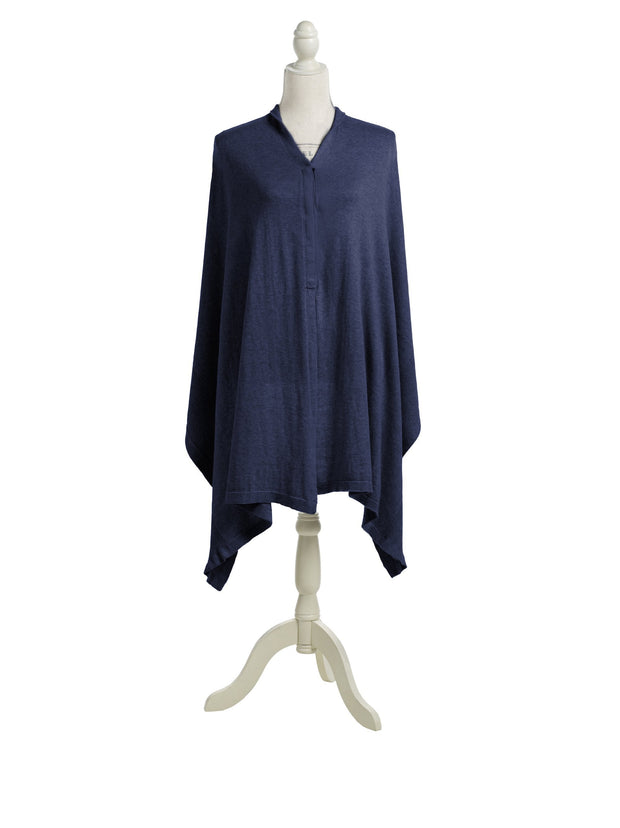 Storksak Mother's Cocoon Organic Nursing Shawl in Navy