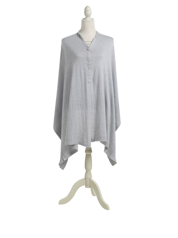 Storksak Mother's Cocoon Organic Nursing Shawl in Grey Marl