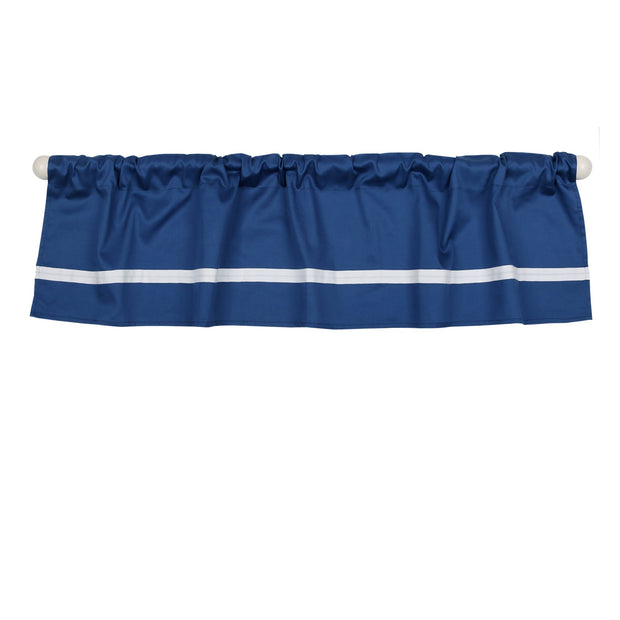 The Peanutshell Navy Tailored Window Valance - Urban Stroller