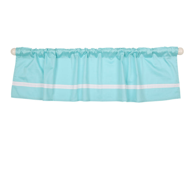The Peanutshell Teal Tailored Window Valance - Urban Stroller