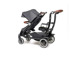 Austlen Entourage Sit+Stand Double Stroller in Black - Urban Stroller