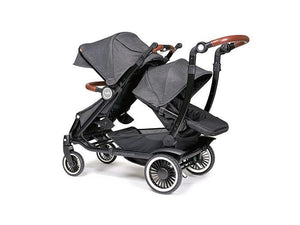 Austlen Entourage Double Stroller with Second Seat in Black - Urban Stroller