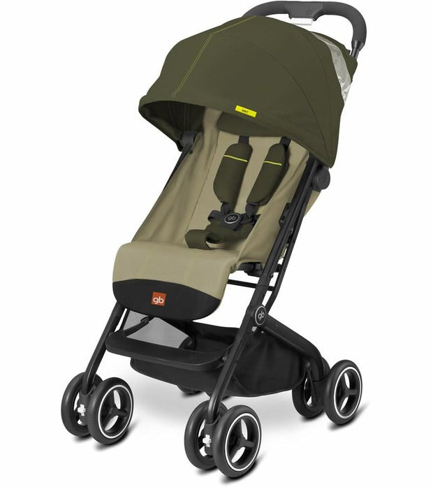 GB Qbit Plus Stroller in Lizard Khaki - Urban Stroller