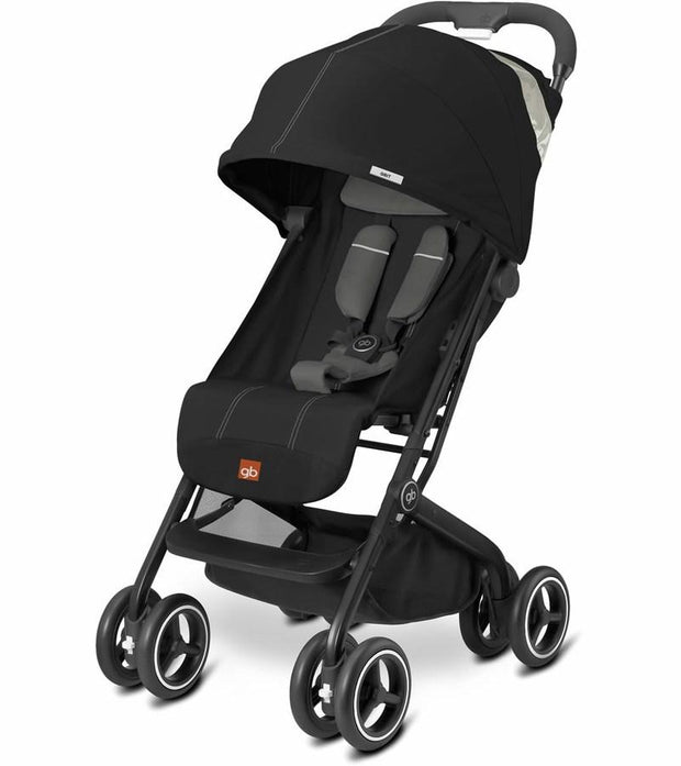 GB Qbit Plus Stroller in Monument Black - Urban Stroller