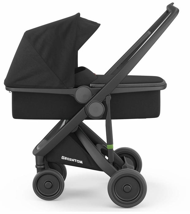 Greentom Carrycot Stroller with Black Frame - Urban Stroller