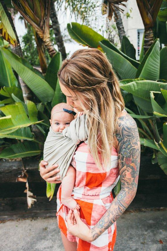 Hope Carried Linen Ring Sling in Namaste - Urban Stroller