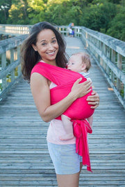 Hope Carried Baby Wrap in Coral - Urban Stroller
