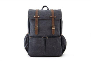 Oliday CarryAll Backpack Diaper Bag in Grey Canvas - Urban Stroller