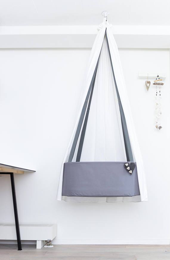 Swingy Nest Hanging Baby Bassinet in Grey - Urban Stroller