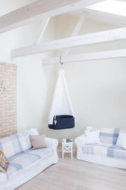 Swingy Nest Hanging Baby Bassinet in Navy Blue - Urban Stroller