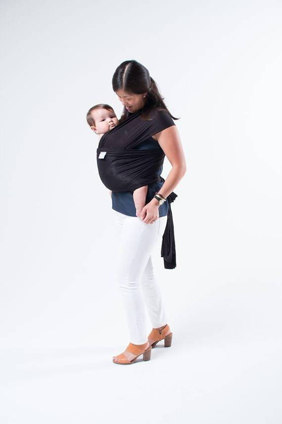 Hope Carried Baby Wrap in Charcoal - Urban Stroller