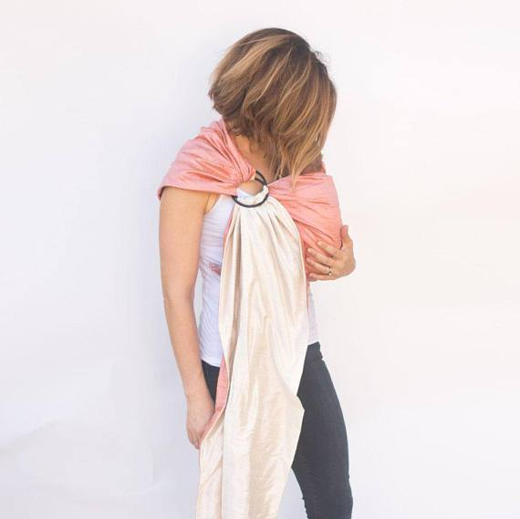 Hope Carried Double-Layer Silk Ring Sling in Peony - Urban Stroller
