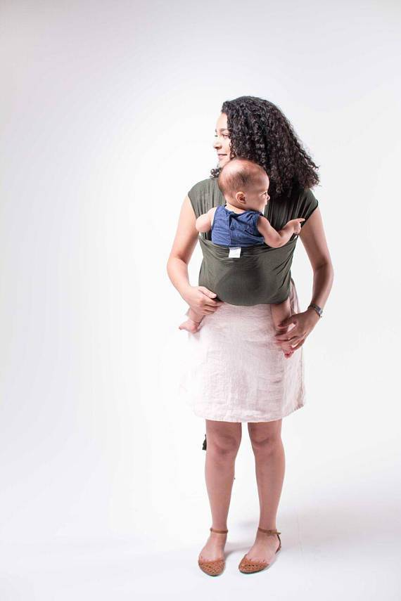 Hope Carried Baby Wrap in Olive Grey - Urban Stroller