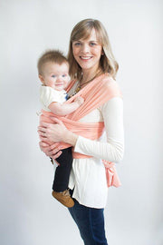 Hope Carried Baby Wrap in Peach - Urban Stroller
