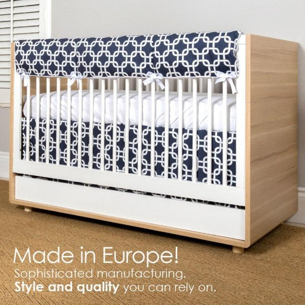 P'kolino Luce Convertible Crib in Wood & White - Urban Stroller
