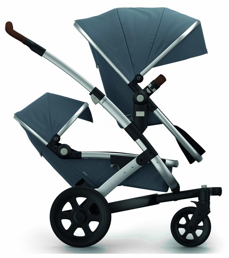 Joolz Geo 2 Earth Twin Stroller Set in Hippo Grey - Urban Stroller