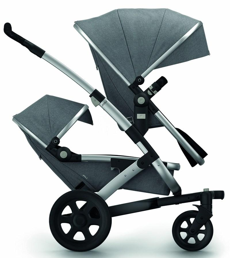 Joolz Geo 2 Studio Twin Stroller Set in Graphite - Urban Stroller