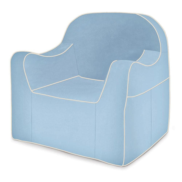 P'kolino Reader Children's Chair in Light Blue with White Piping - Urban Stroller