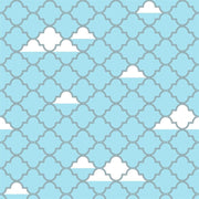 P'kolino Turquoise with Silver Metallic Lattice Removable Wallpaper - Urban Stroller