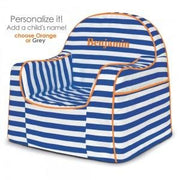P'kolino Little Reader Toddler Chair in Stripes Blue - Urban Stroller