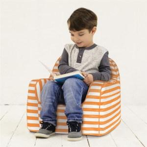 P'kolino Little Reader Chair in Stripes Orange - Urban Stroller