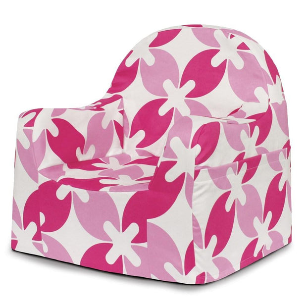 P'kolino Little Reader Chair in Pink Leaves - Urban Stroller