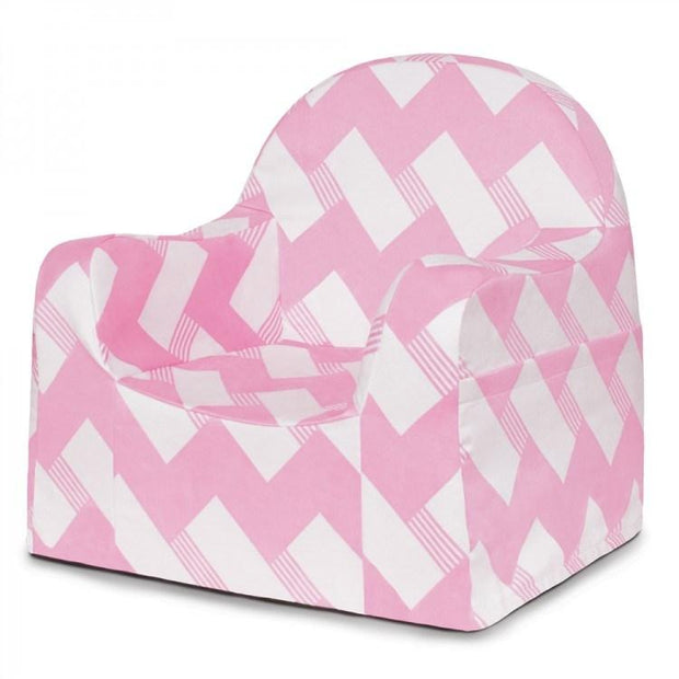 P'kolino Little Reader Chair in Chevron Pink - Urban Stroller