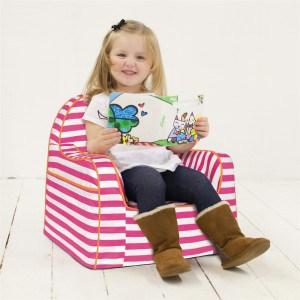 P'kolino Little Reader Chair in Stripes Pink - Urban Stroller