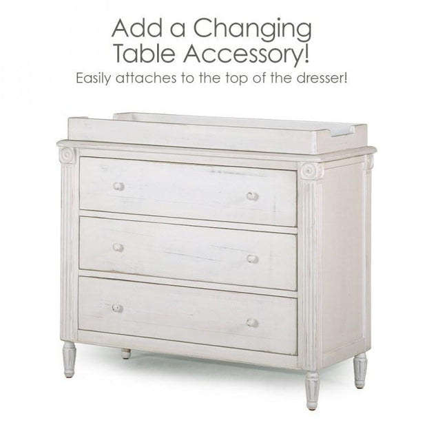 P'kolino Palazzo Single Dresser in Off White - Urban Stroller